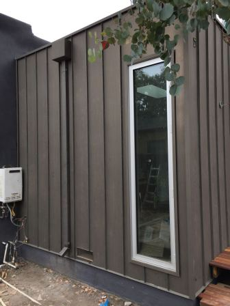 fascia cover standing seam vertical siding custom box leader heads and downspouts bonderized material 24 gauge Santa Monica 90405(25)