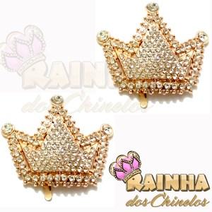 Piercing Coroa Dourada com Strass Inteira