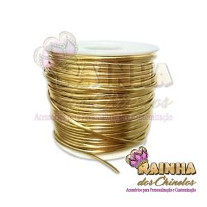 Fio de Couro (Courinho) Dourado 1,5mm