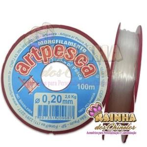 Fio de Nylon Linha de Pesca 0,20mm