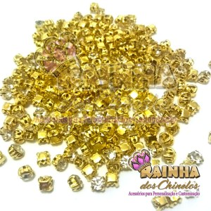 Strass de Costura Dourado SS18 Cristal