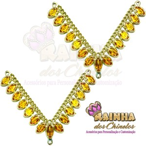 Cabedal ABS Oval Amarelo