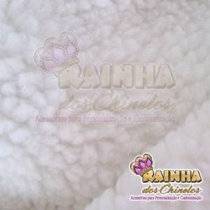 Tecido Carapinha Branca 12mm