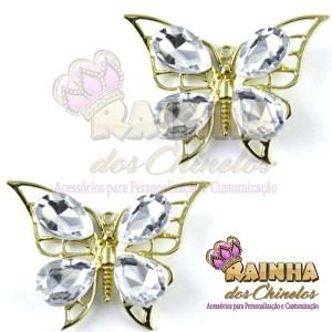 Piercing Borboleta Cristal