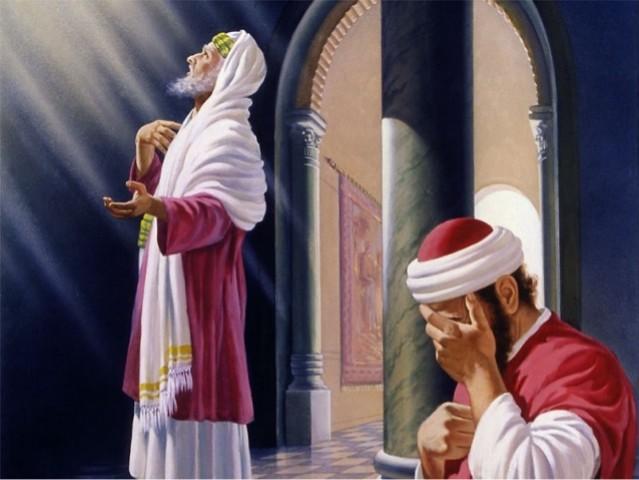 Resultado de imagem para imagem da parábola do fariseu e do publicano - em site católico