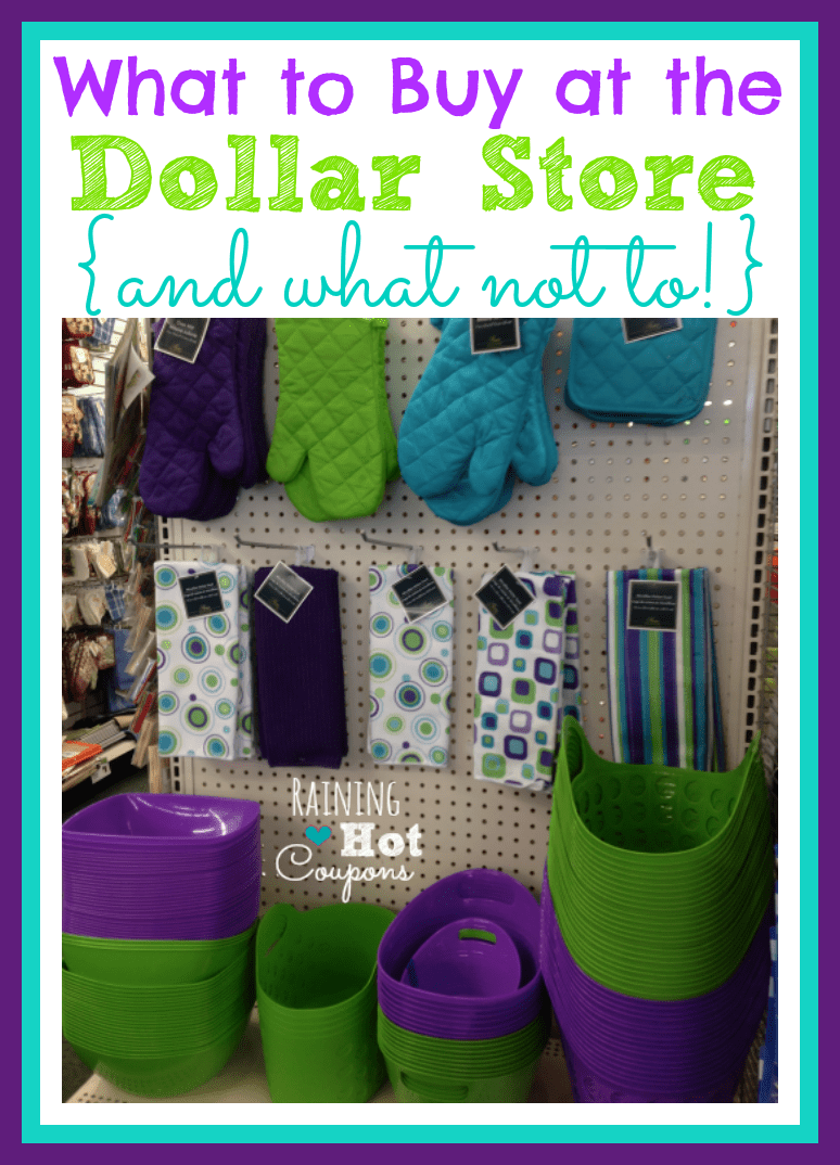 what to buy at the dollar store and what not to buy