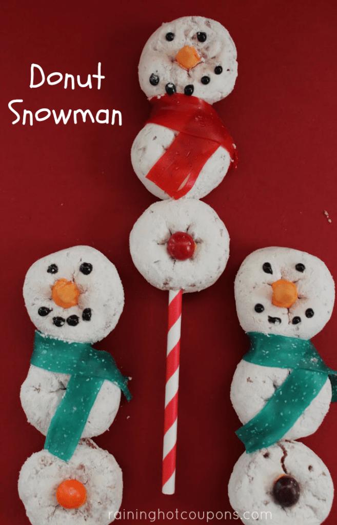 Donut Snowman Recipe