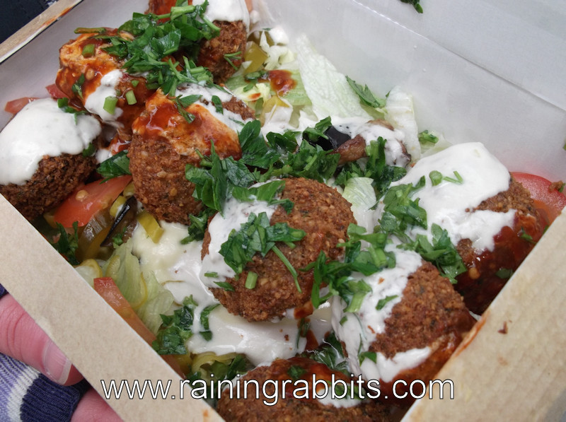 falafel box from Jerusalem Falafel