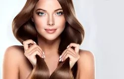 Woman has healthy hair