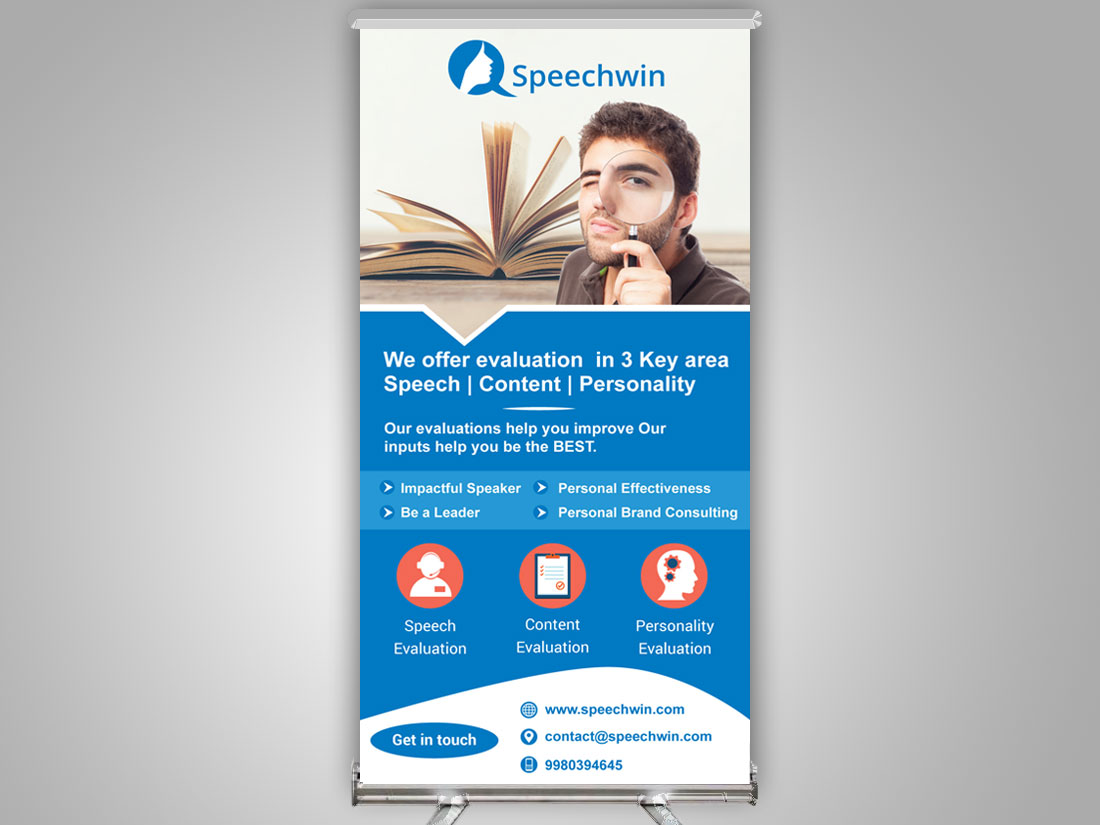 Roll up Standtee Banner Design in Chennai, Roll up Standtee Banner Printing in Chennai