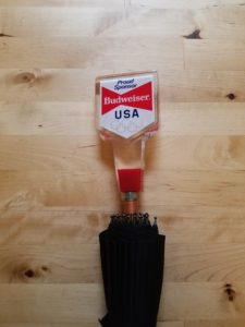 Budweiser USA Olympics Vintage Tap Handle Umbrella