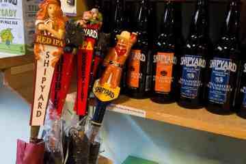 Custom beer tap umbrellas for Shipyard Brewery