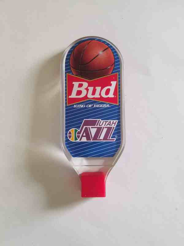 Vintage Budweiser Tap Handle for the Utah Jazz