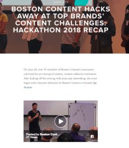 Boston Content Hackathon Brands' Content Challenges