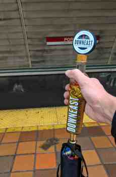 Downeast Cider Ship In A Bottle Tap Handle Umbrella