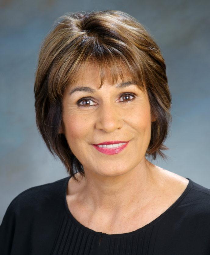Executive portrait of woman in studio