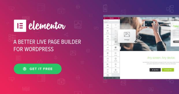 Elementor Pro 2019 wordpress page builder image