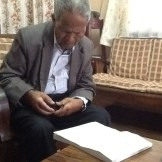 He didn't have his official secretary around, so he received our petition on his own.