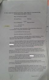 Order dated 9.12.2011 of Addl District Magistrate granting the alleged accused 7 days interim Bail