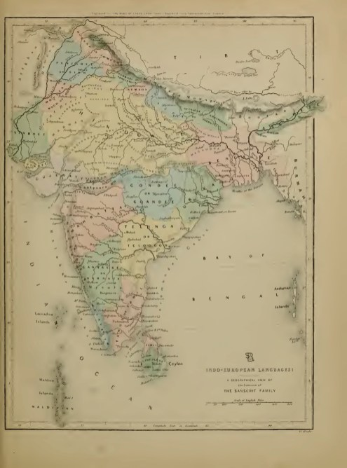 Baptist Mission Linguistic Map of India (1846)