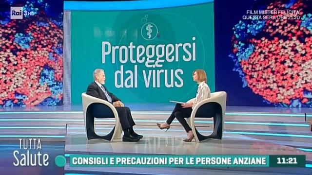 Risultato immagini per tutta salute coronavirus e anziani rai