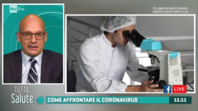Risultato immagini per tutta salute scuole chiuse antivirus rai