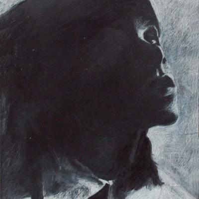 "<i><font size=""3"">Kauluspaita muotokuva / Blouse portrait</font></i><br> 81 x 55 cm<br> 2008-2011"
