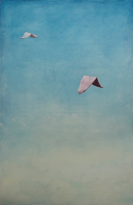 Taipaleella / The Journey (2012), öljy levylle / oil on canvas, 140,5 x 91,5 cm