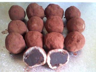 home made chocolate mochi