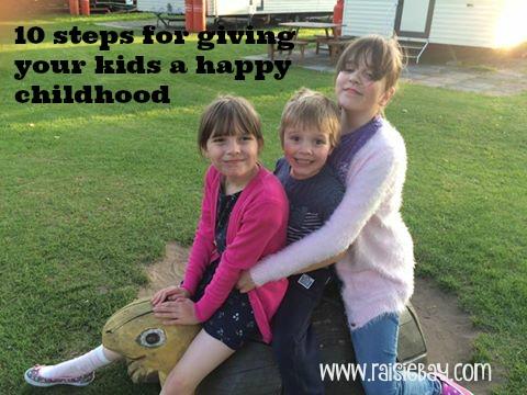 Happy Childhood, 3 happy children on holiday