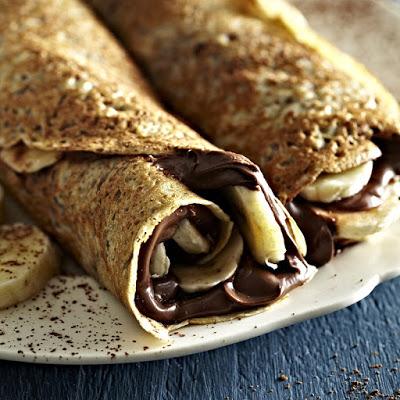 chocolate and banana pancake
