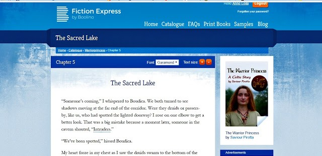 screen shot of Fiction Express chapter
