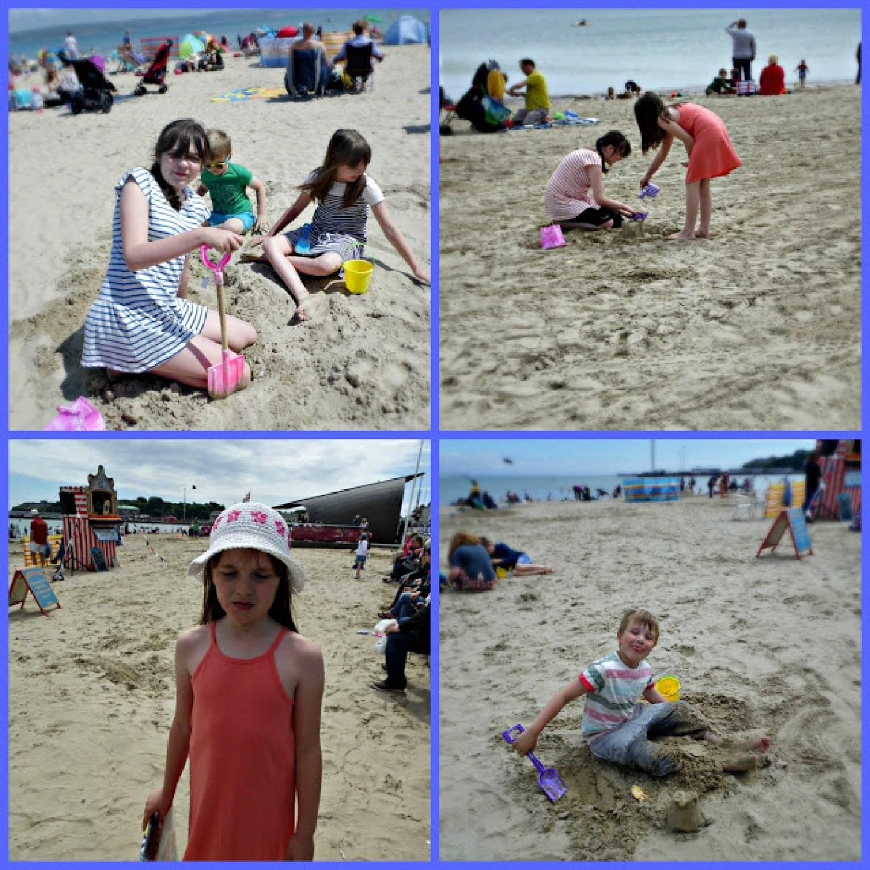 kids on the beach