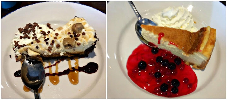 desert at the church tavern, cream pie and cheesecake