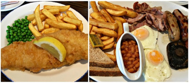 Lunch at the Church Tavern, fish n chips and an all day breakfast