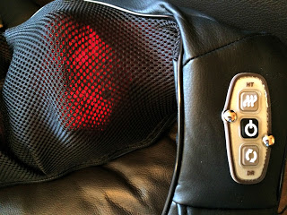 close up of massager controls