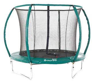 bounce on our trampoline