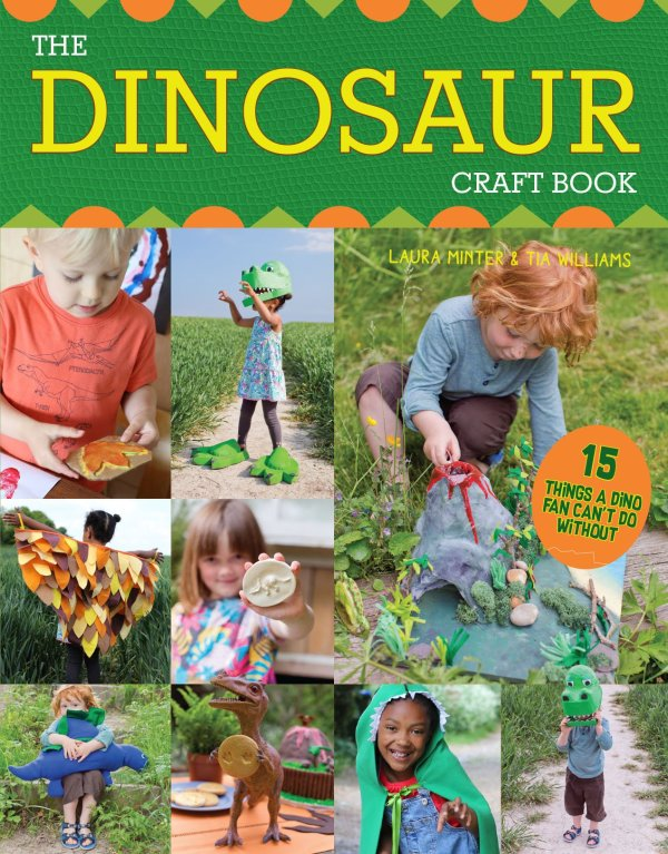 Front cover of the Dinosaur Craft Book, 15 Things a Dino fan can't do without