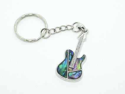 a guitar key ring from etsy