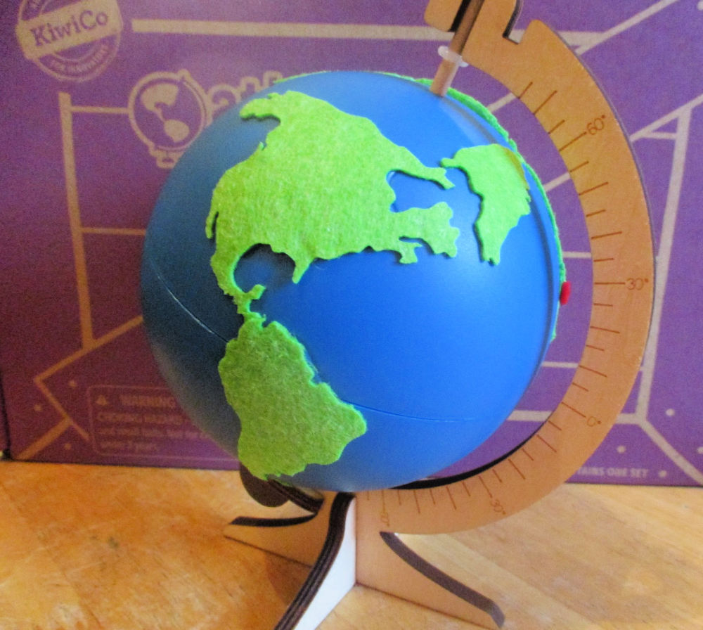 the spinning globe when finished
