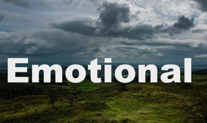 stormy sky with the word Emotional
