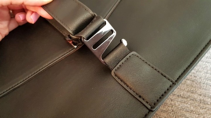 The strap of the briefcase