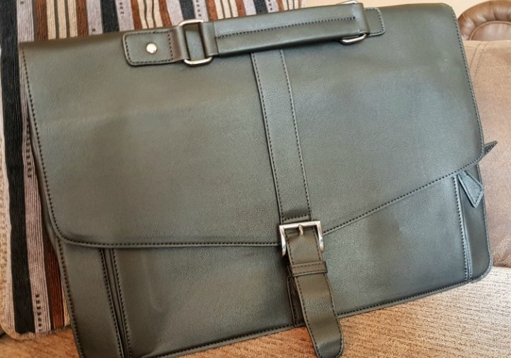 PU Leather Briefcase as viewed from the front