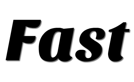 the word FAST