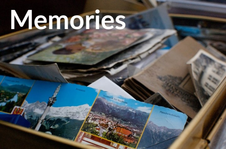 Memories, a box full of old photographs,