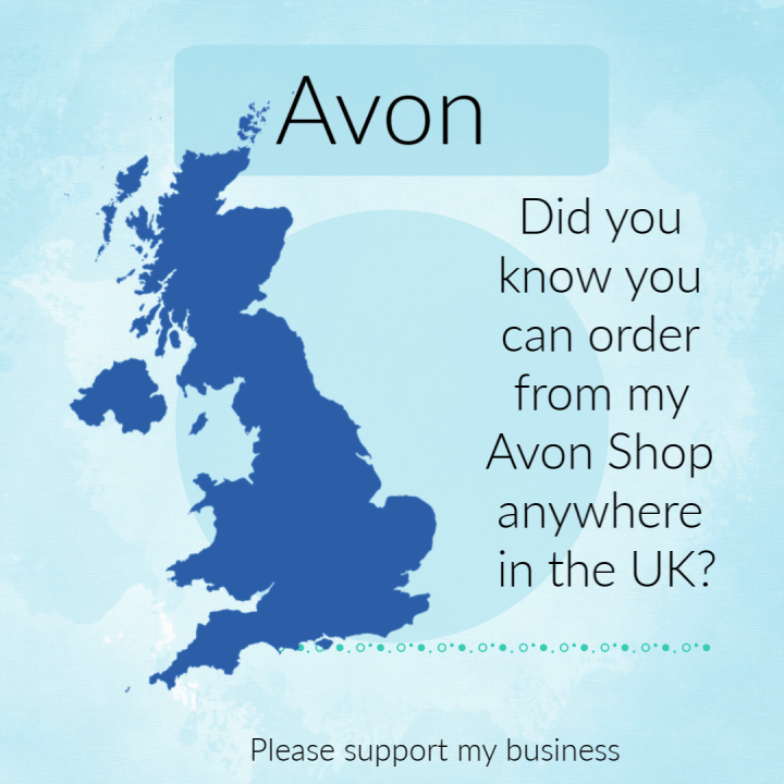 Avon can be ordered anywhere in the UK