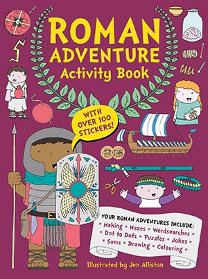 front cover of roman adventure activity book