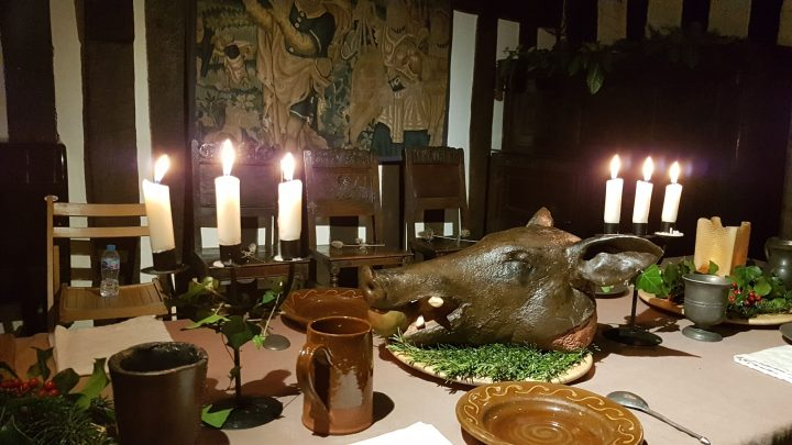 Tudor Feast at Selly Manor by candle light
