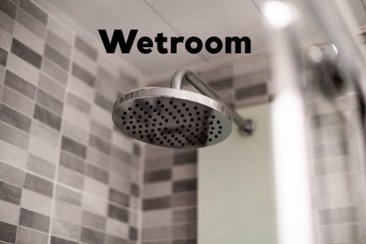 wetroom shower head