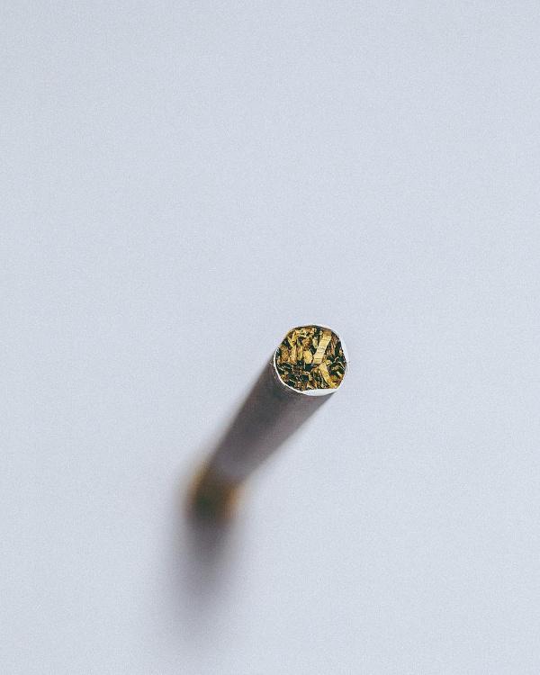 unlit cigarette